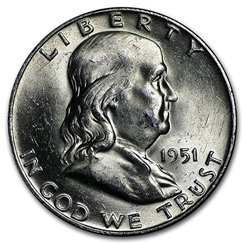 1951 D Franklin Half Dollar BU Half Dollar Brilliant Uncirculated ()