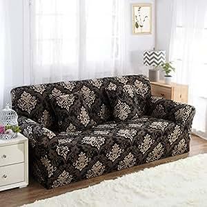 Pinkdose® Color 22, 4Seater 235-300Cm : Sofa-Slipcover Tight Wrap All-Inclusive Slip-Resistant Sectional Elastic Full Corner Sofa Cover L Shaped Sofa