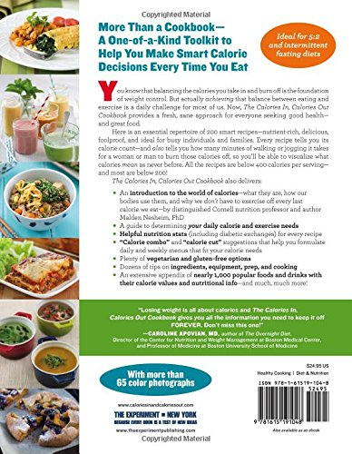 The Calories In, Calories Out Cookbook: 200 Everyday Recipes That Take the Guesswork Out of Counting Calories―Plus, the Exercise It Takes to Burn Them Off