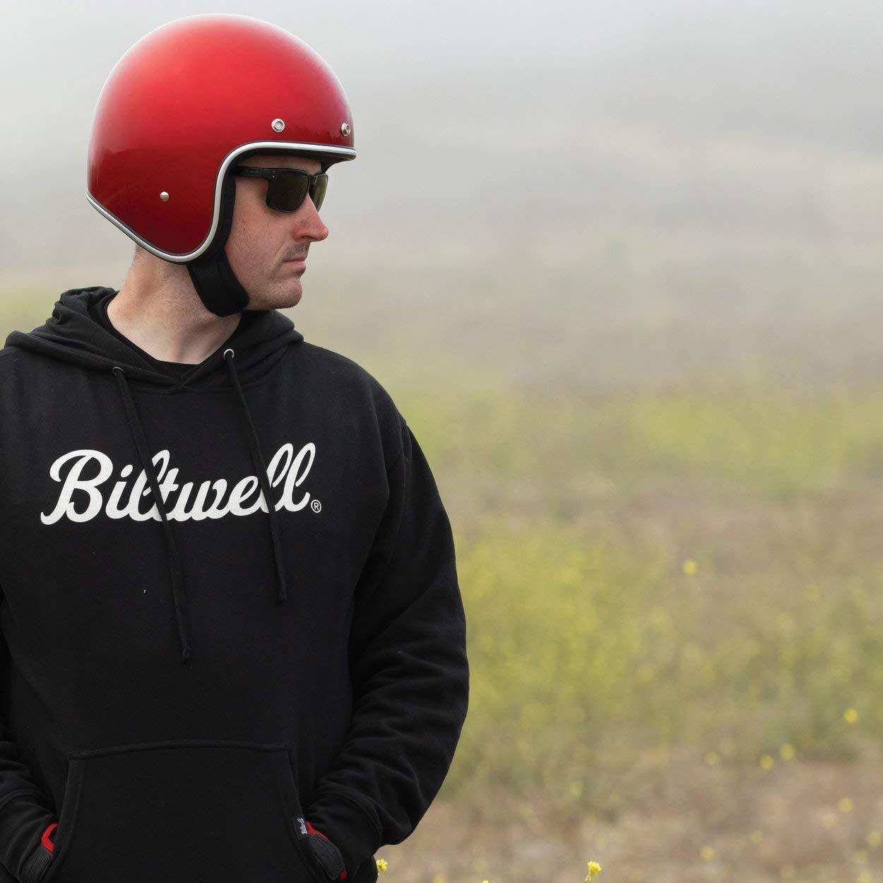 Casco Jet Aperto Biltwell Bonanza Rosso Metallic Candy Red Approvato DOT Helmet Biker Look Stile Universale x Genere Custom Vintage retr/ò Anni 70 off-Road Street Taglia L