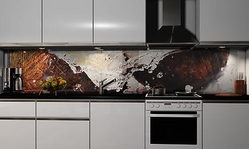 Küchenrückwand-Folie Kokosnuss Klebefolie Spritzschutz Küche ...