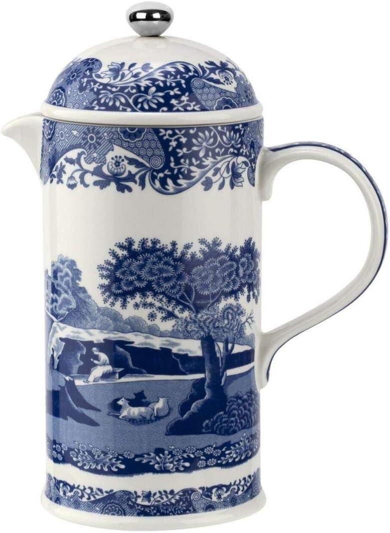 Spode BLI00870-XF - Cafetera italiana azul (28 onzas, cerámica), color azul: Amazon.es: Hogar