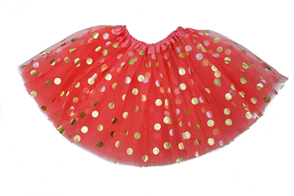 The Hair Bow Company Girl & Teen Gold Polka Dot Tulle Tutu Skirt 13' for 8-16 Years - Many Colors 8633 0046