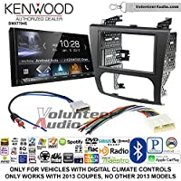 Volunteer Audio Kenwood DMX7704S Double Din Radio Install Kit with Apple CarPlay Android Auto Bluetooth Fits 2007-2013 Nissan Altima (Digital Climate Controls)