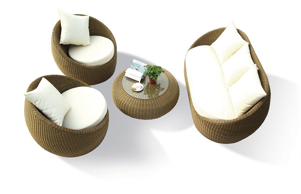 Gartenmöbel Rattan Lounge Set Monte Carlo mit Alugestell