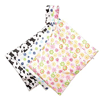 Useful New Washable Reusable Waterproof Cloth Diaper With Zipper Wet Dry Bag T