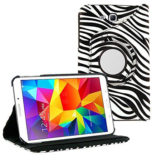 Galaxy Tab E 8 Case By KIQ Slim Folio Stand PU Leather Case Cover Samsung Galaxy Tab E 8.0 T377 / T377A - - Zebra Inch Tablet 8 Case