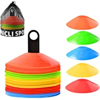 UNICLI Sports Soccer Cones Training Equipment - Agility Cones with Stylish Mesh Bag and Holder for Sports - Set of 50…