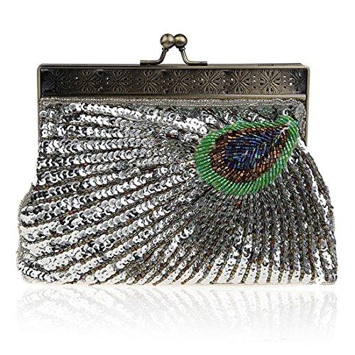 Pochette bag pour evening femme UNYU silver q6wfEx