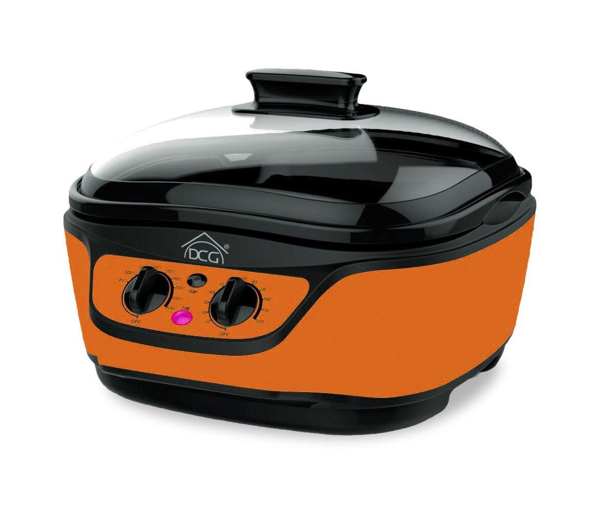 Multicooker robot cucina MB2400 DCG 8 funzioni in 1 capacità 5 LT e accessori. MEDIA WAVE store ® (Arancione)