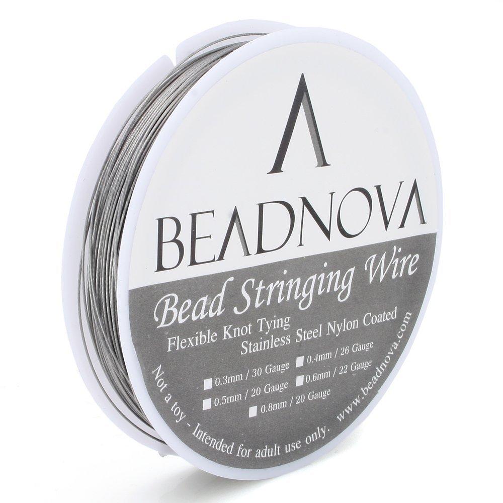 Amazon.com: BEADNOVA 0.019-Inch 7-Strand Nylon Coated Stainless ...