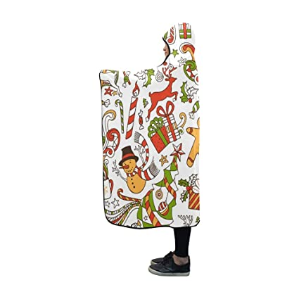 Funny Christmas Wallpaper.Amazon Com Ryuifi Hooded Blanket Boundless Funny Christmas