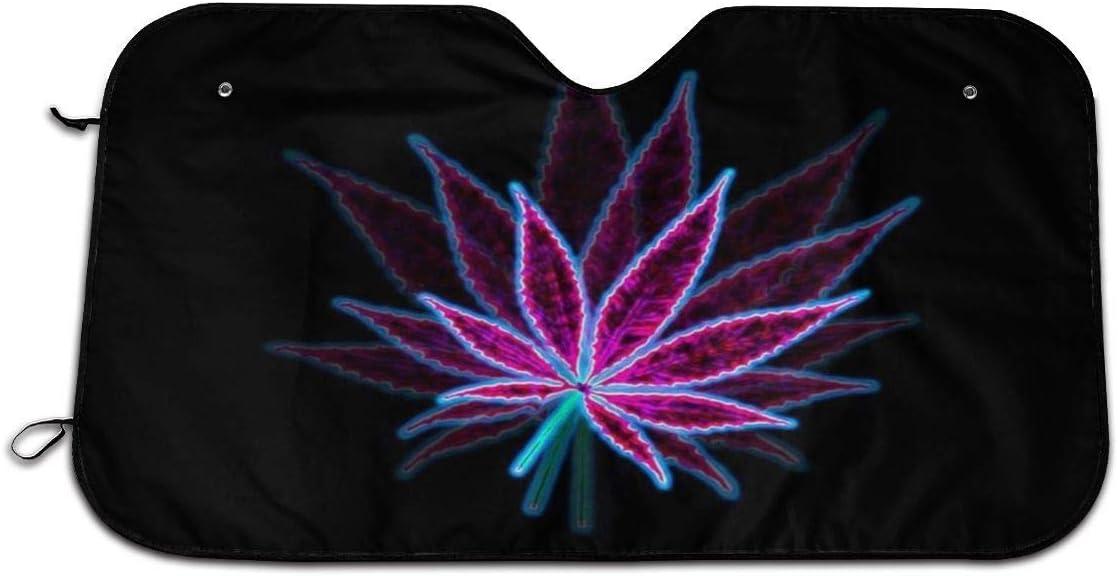 Psychedelic - Parasol para Ventana Delantera de Coche con diseño de Marihuana, Ajuste Universal, protección contra Rayos UV, Sol y Calor (70 x 130 cm)
