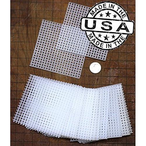(50) 3x3 Inch Rigid Polyethylene Large Bonsai Pot Mesh Drainage Screens