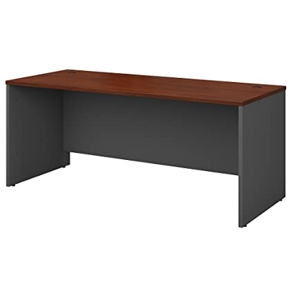 Beau Bush Business Furniture Series C 72W X 30D Office Desk In Hansen Cherry