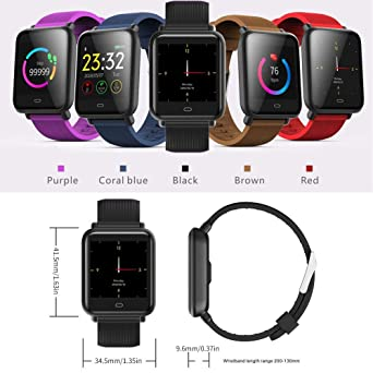 Amazon.com: Volwco Q9 Smart Watch/Fitness Tracker,1.3inch HD ...