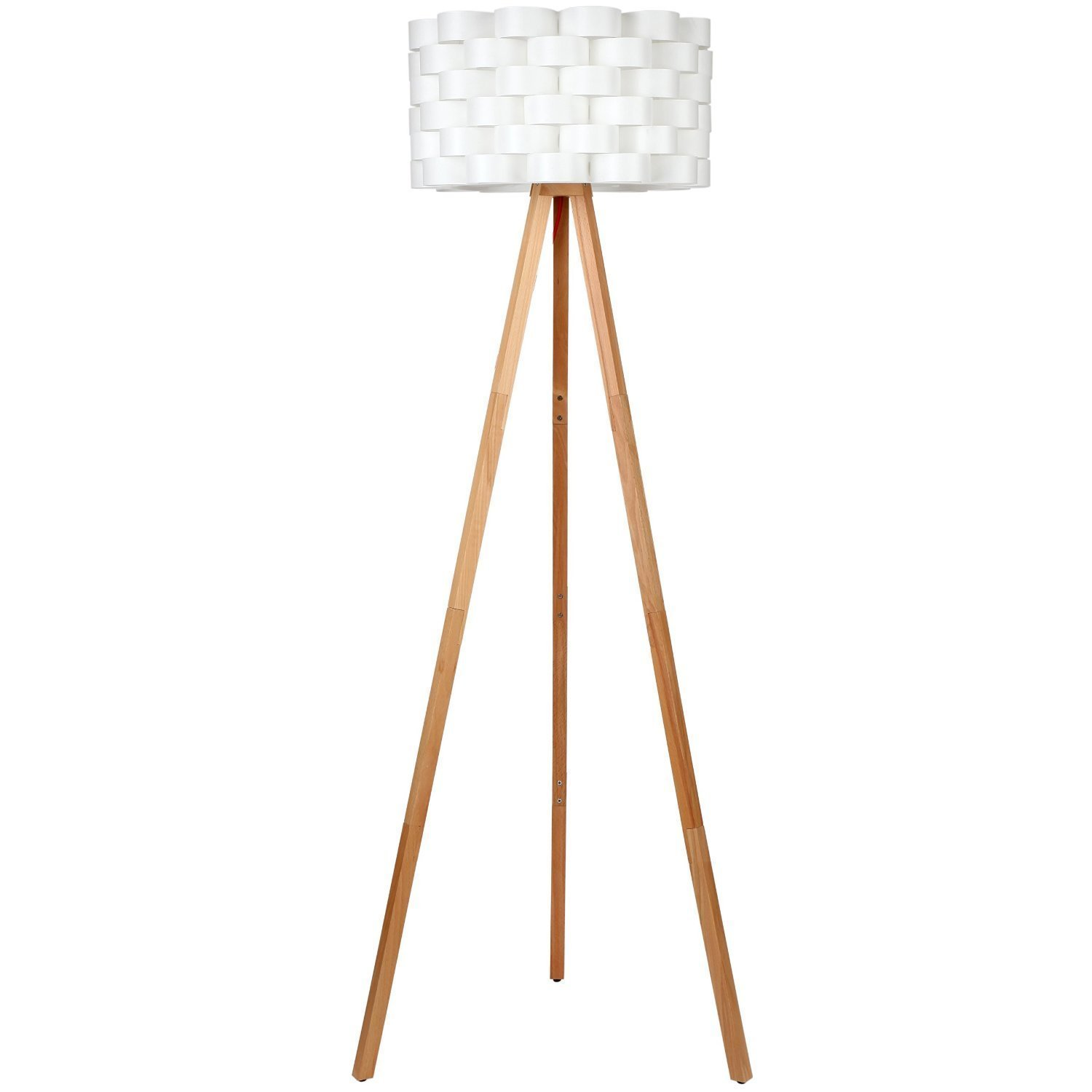 Tripod lamp target - Brightech Bijou Tripod Floor Lamp Contemporary Design For Modern Living Rooms Soft Ambient Lighting Made With Natural Wood Natural Color Wood