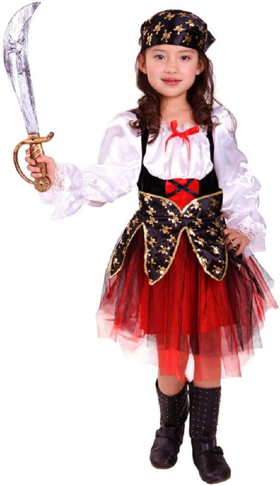JT-Amigo Disfraz de Pirata para Niña, Talla 6-7 años: Amazon.es ...