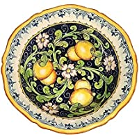 CERAMICHE D'ARTE PARRINI - Italian Ceramic Art Pottery Bowl For Fruit ,Salad, Pasta Hand Painted Made in ITALY Tuscan