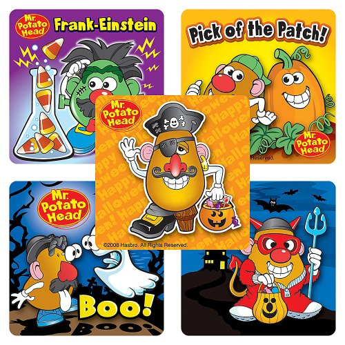 Mr Potato Head Halloween Stickers - Party Favors - 100 Per Pack