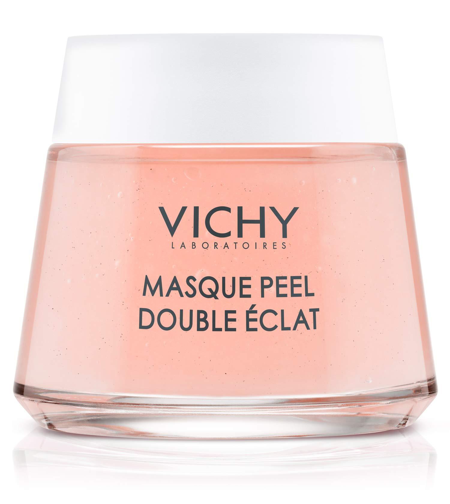 Vichy Mineral Double Glow Peel Face Mask, Oil-Free Mask to Exfoliate & Luminate Skin, Paraben-Free, 2.54 Fl. Oz.