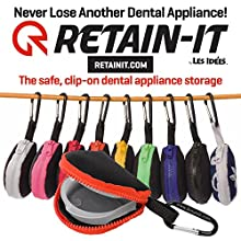 Retain-It - The Safe, Clip-on, Retainer, Mouth Guard and Dental Appliance Storage Solution! (Orange)