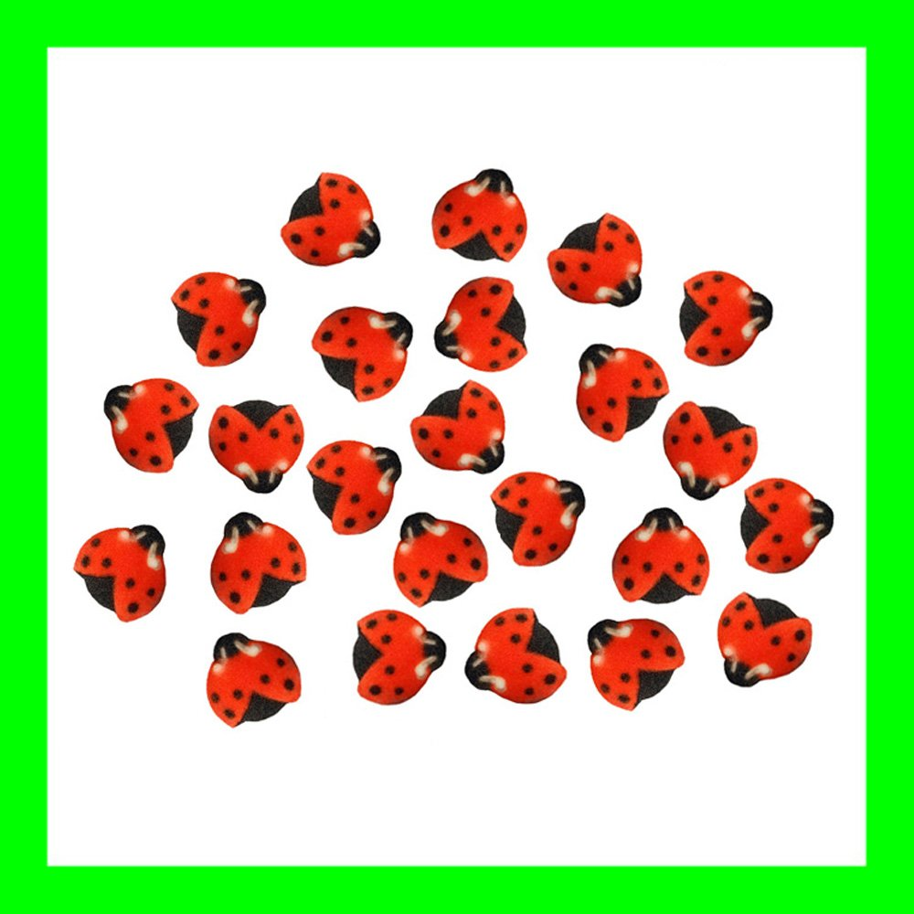 amazon com lady bugs cake dec ons decorations pack of 24 kitchen
