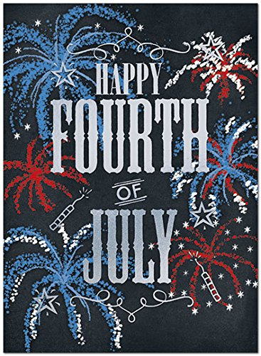 amazon com 25 4th of july cards fireworks design 26 white