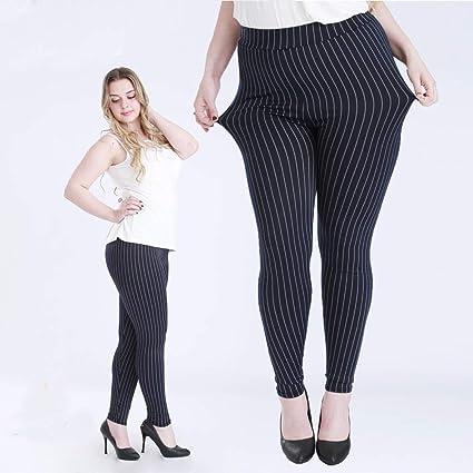 4b4b3c3585d Image Unavailable. Image not available for. Color  Blue Stones Big Size Fat  Female Women Vertical Stripe Faux Jeans Legging ...