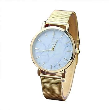 Yes Mile Relojes, pulsera de moda unisex reloj reloj correa de metal elegante pulsera mujeres Casual analógico de cuarzo Mujer Reloj: Amazon.es: ...