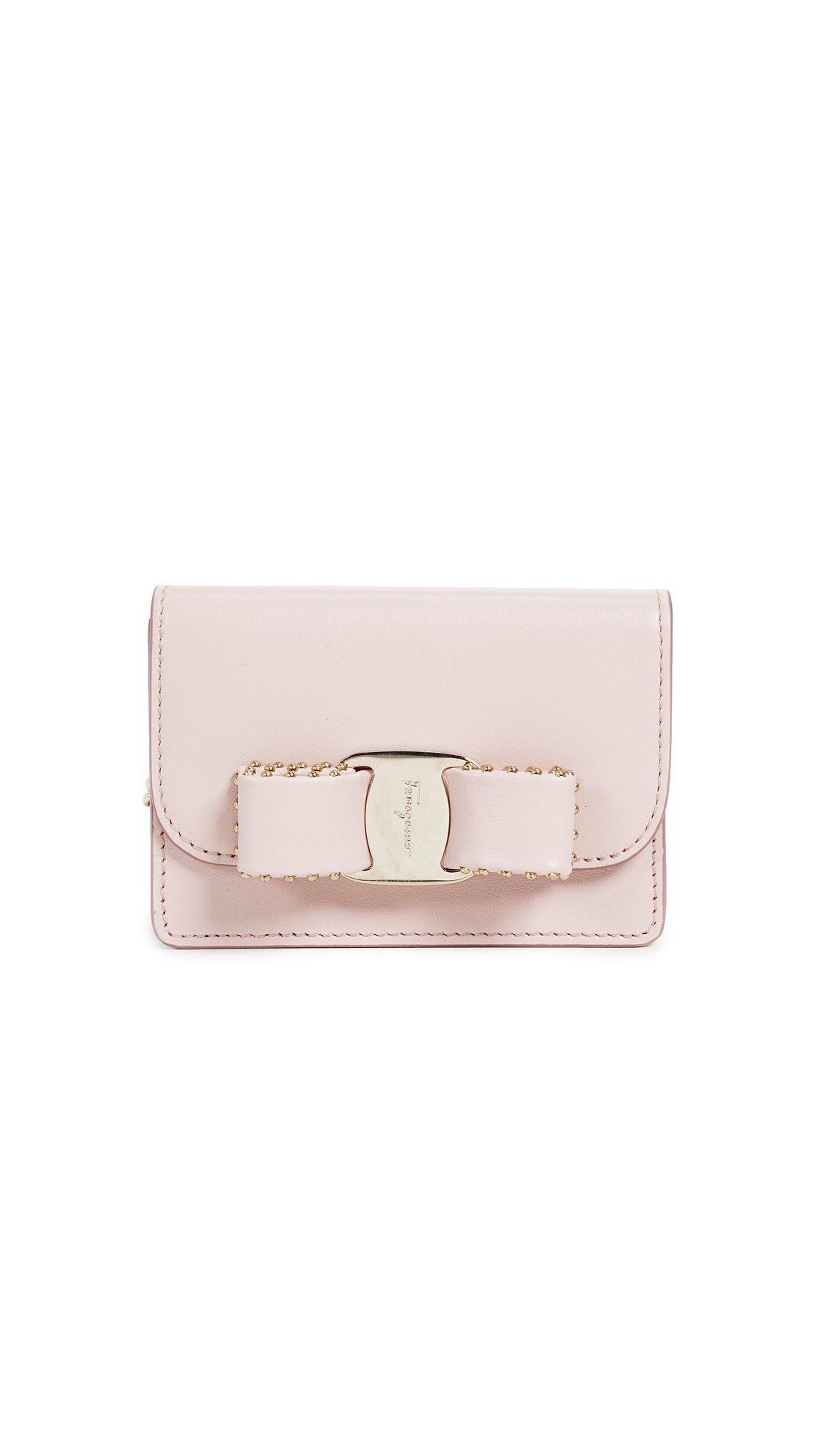 Salvatore Ferragamo Women's Vara Rainbow Studs Key Chain Card Case, Bon Bon, One Size by Salvatore Ferragamo