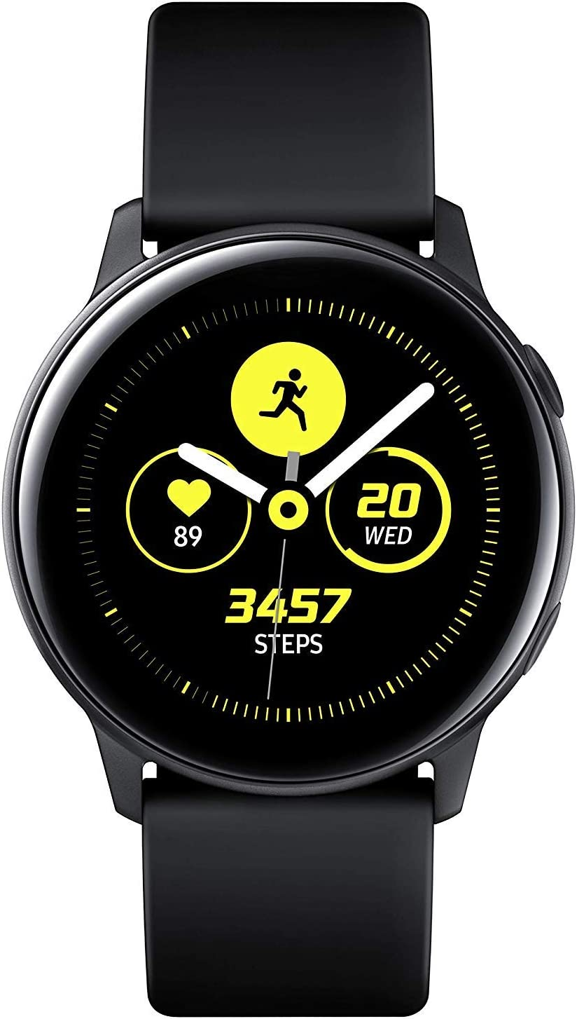 Samsung Galaxy Watch Active - 40mm, IP68 Water Resistant, Wireless Charging, SM-R500N International Version (Black)