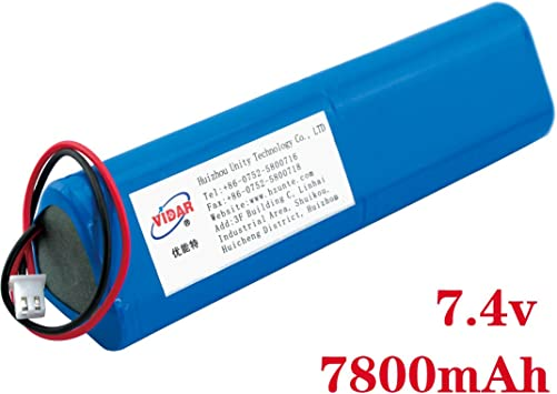 Customizable Rechargeable Lithium Ion Battery Pack VIDAR 3.7V 5200mAh High Capacity Li-ion Battery Pack with JST PH2.54//2P Plug-in for Electronics,Toys,Lighting,Equipment