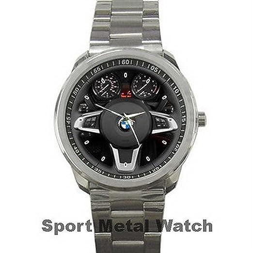 Relojes de pulsera para hombre, diseño de BMW Z4 FRYSC001 Steering Wheel for Sport Metal Watch: Amazon.es: Relojes