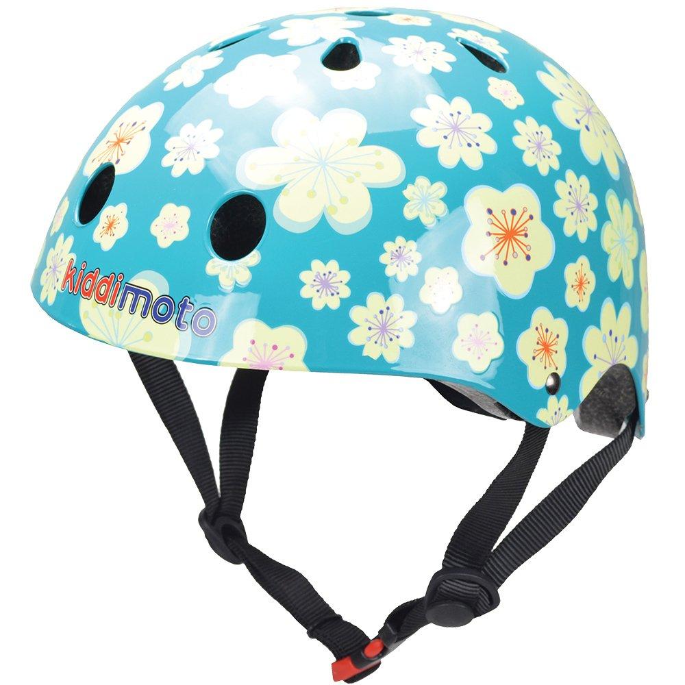 Kiddimoto Kids Patterned Helmet (Fleur, Small)
