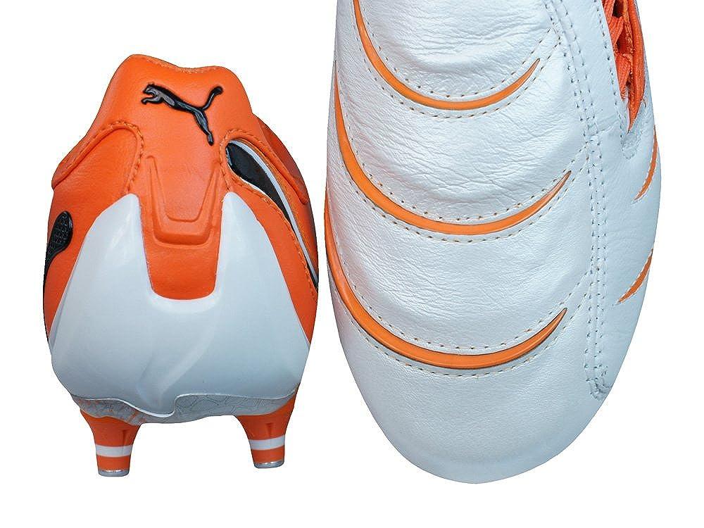 Puma Zapatillas de rugby para hombre White Black Team Orange