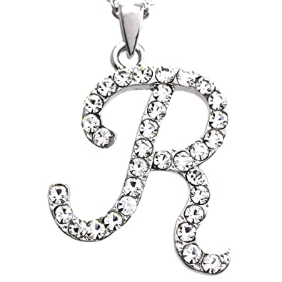 Amazon initial letter r pendant necklace charm ladies teens initial letter r pendant necklace charm ladies teens women fashion jewelry charm aloadofball Images