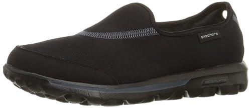 c6ad4200a81df Skechers Performance Women's Go Walk Impress Memory Foam Slip-On Walking  Shoe, Black,