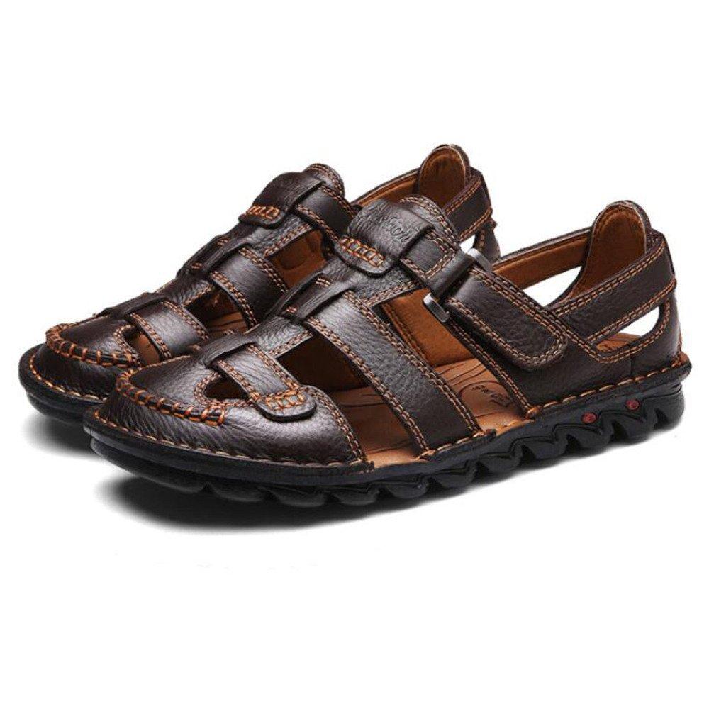 Sommer-Männer Casual Sandalen Baotou Braun Fashion Beach Schuhe Sandalen Braun Baotou 616076