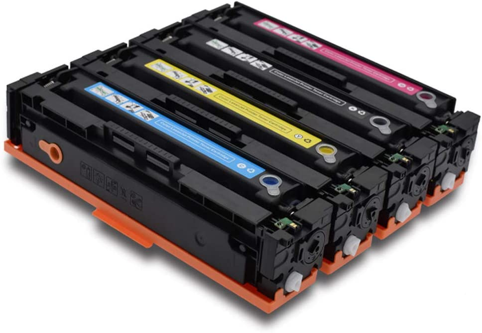 Clear and not Hurt The printer-4set CF530A Toner Cartridge Replaceable Compatible for HP Laserjet Pro M154nw 154a M180nw 180n M181fw Series Color Printer
