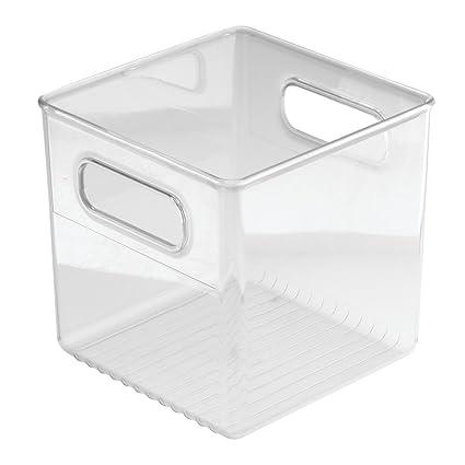 InterDesign Linus Caja organizadora para cuarto de baño, organizador de cajones de plástico en forma