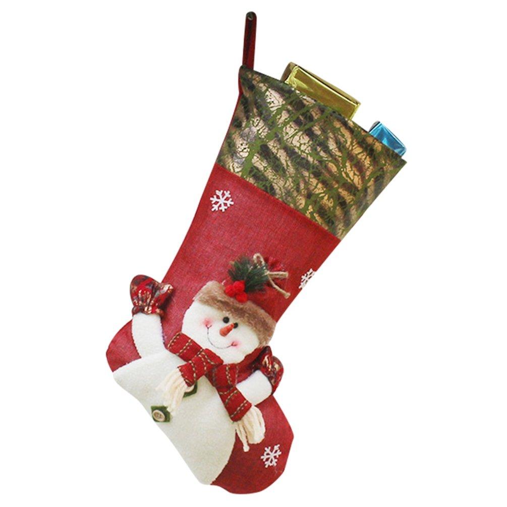 YiLianDa Chaussette Bas De Noël A Suspendre Cadeau Non Tissé De Père Noël Sac Cadeau Décoration Intérieure