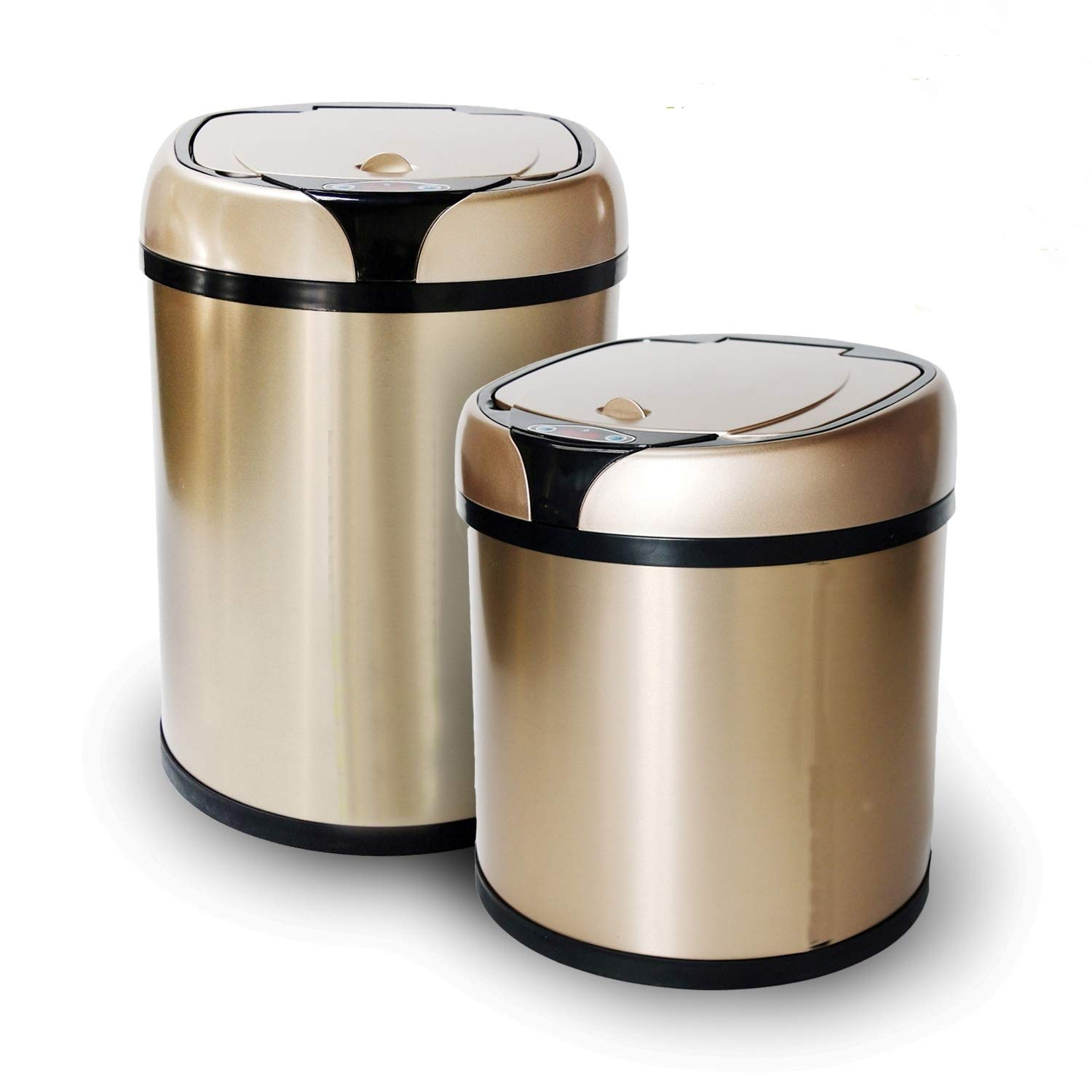 Stainless Steel Automatic Trash Can Touchless Automatic Motion Sensor Trash Can Kitchen Trash Bin (1.58Gal/6L) MuMu New Life