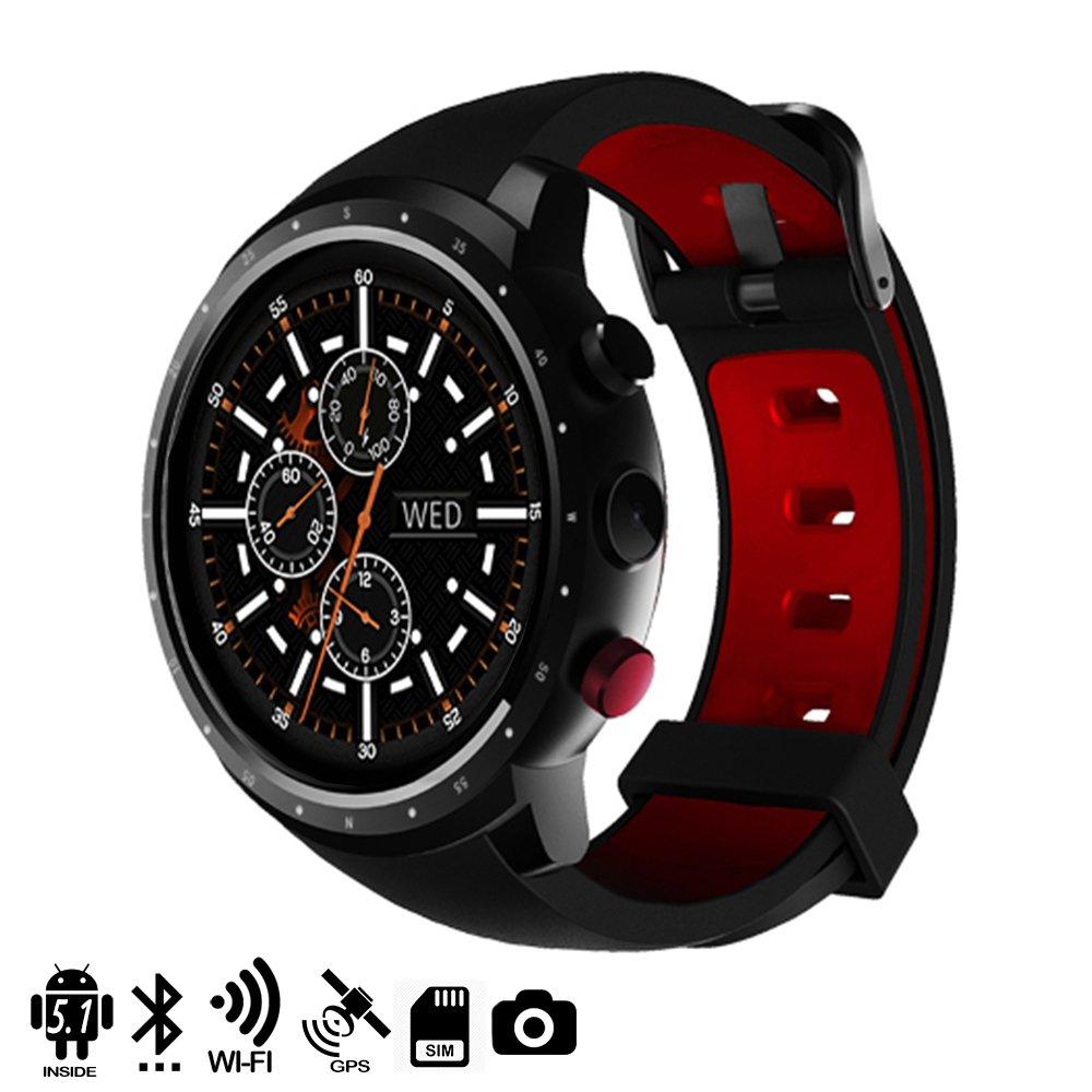 Silica DMX120BK DMX120BK - Smartwatch Phone z18 Quad Core con Sistema operativo Android 51, cámara, GPS y wi-fi, Monitor cardíaco Negro