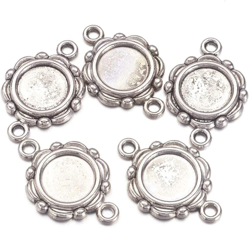 2pcs Tibetan Silver Color jante ovale 40x30mm Cabochon Settings Broche Design XA068