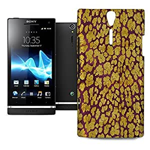 Phone Case For Sony Xperia S / SL - Gold Glam Leopard Snap-On Premium