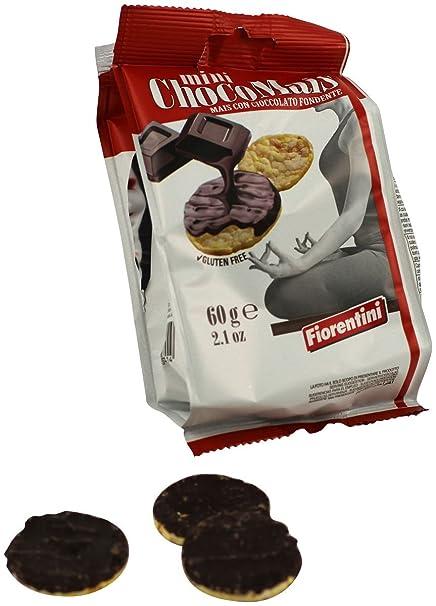 Tortas de maíz (mini) con oscuro 60 g chocolate sin gluten ...