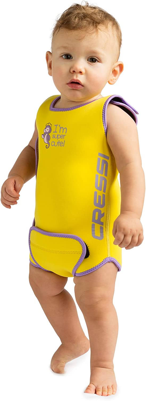 Cressiキッズ幼児ベビーウォーマーサーマルウェットスーツ、黄色、12-18ヶ月