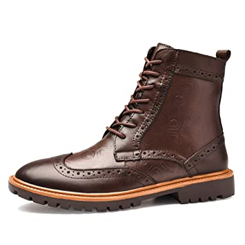SHANLY Forro Polar De Cuero Genuino para Hombre Botines Desert Botines Martin Warm Winter Lace Ups Trekking Zapatos De Calzado De Senderismo De Gran Tamaño ...