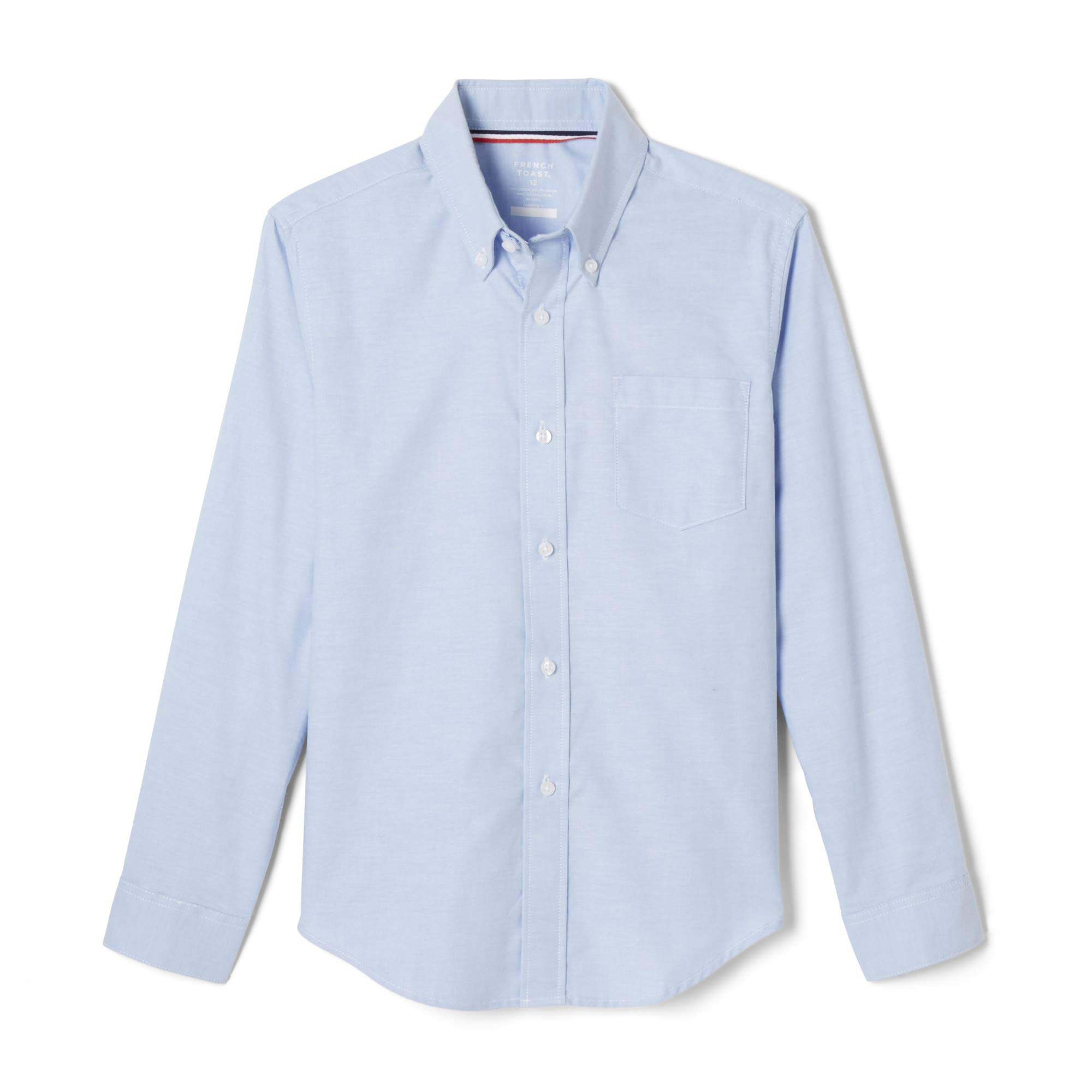 French Toast Boys' Long Sleeve Oxford Shirt, Light Blue, Large by French Toast (Image #1)